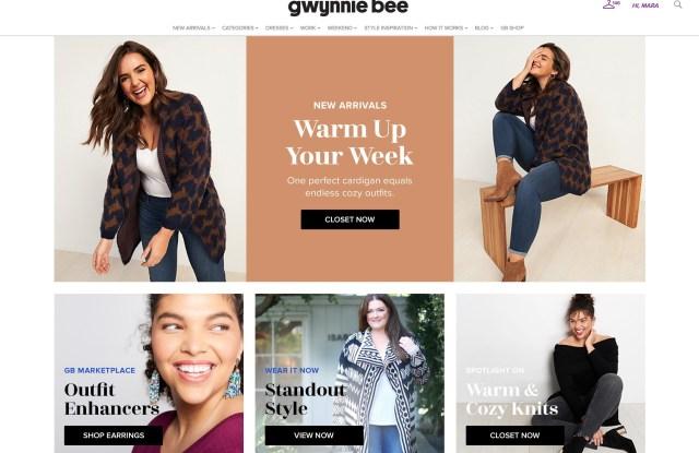 Gwynnie Bee's homepage.