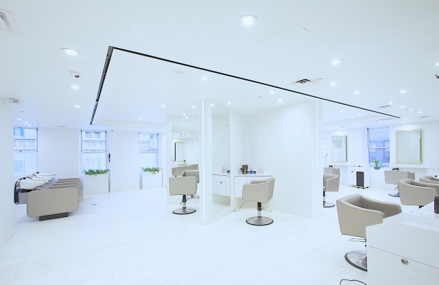 Every customer gets a private office-like chair at the new Arsen Gurgov salon.