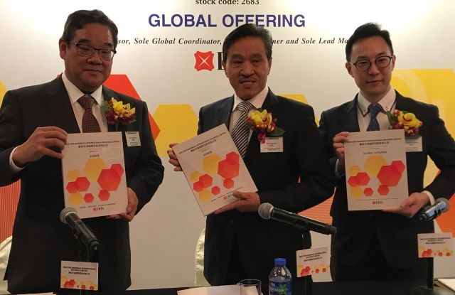The management team of Wah Sun Handbags from left to right: ceo Ma Hing Ming, chairman Ma Hing Man, and financial controller Dominic Li.
