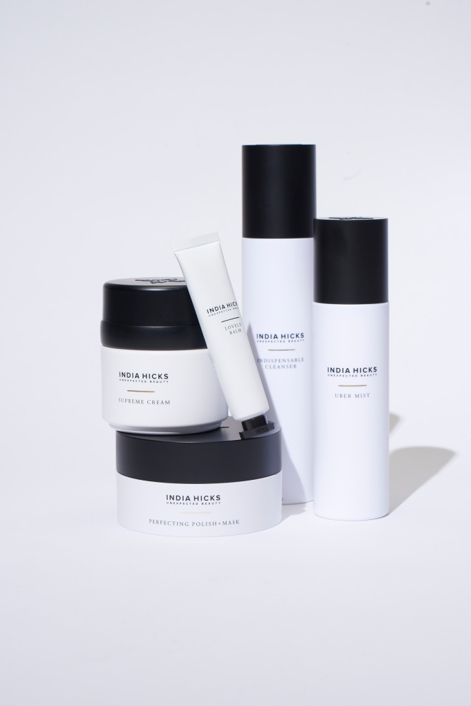 The Unexpected Beauty line comprises Essential Cleanser, Perfect Polish + Mask, Supreme Cream, Uber Mist and Lovely Balm