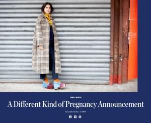 Leandra Medine's pregnancy announcement.