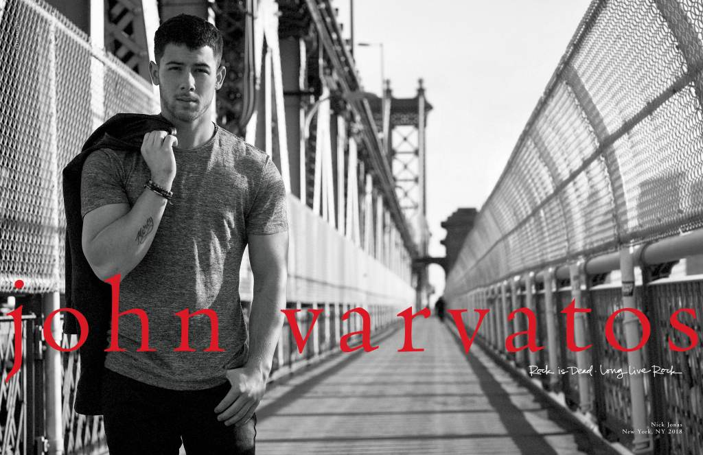 Nick Jonas Nick Jonas wears pieces from his capsule collection in the John Varvatos campaign.