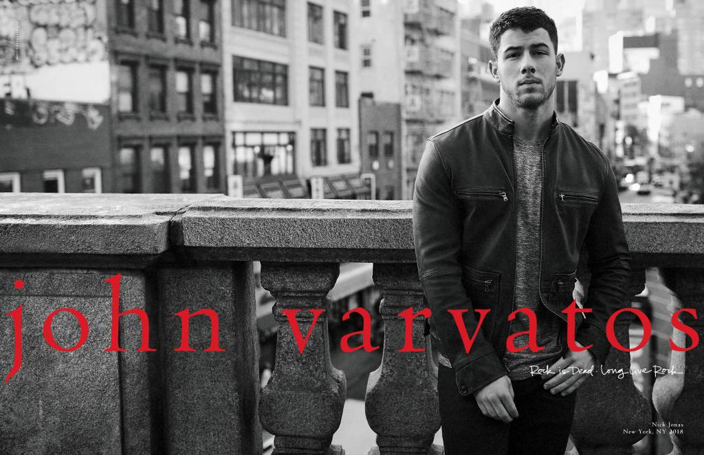 Nick Jonas is is partnering with John Varvatos on a capsule collection for spring.
