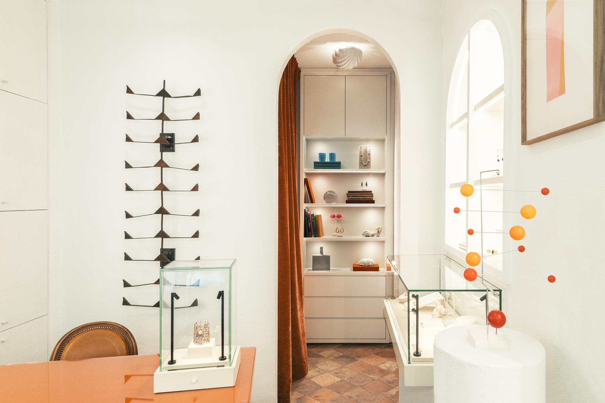 The Aurélie Bidermann store on Rue Royale