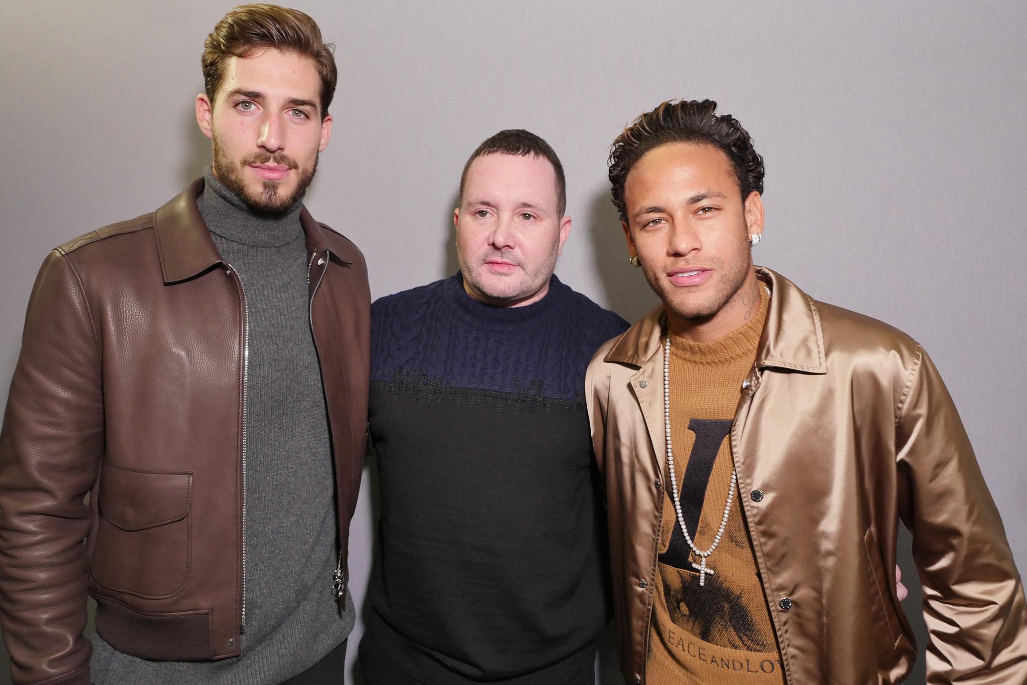 Kevin Trapp, Kim Jones and Neymar Jr.