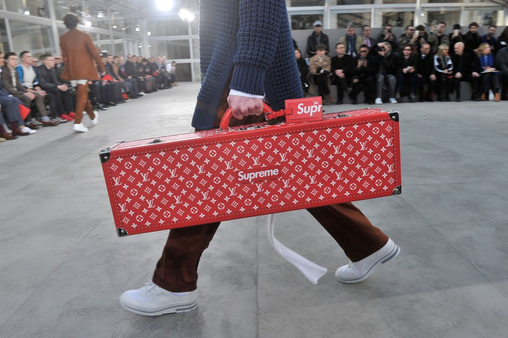 The Louis Vuitton Fall 2017 menswear collection collaboration with Supreme.