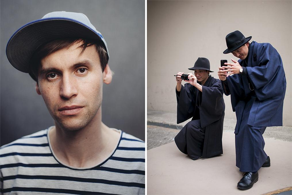 Left: Kuba Dabrowski, Right: A street style look by Kuba Dabrowski.