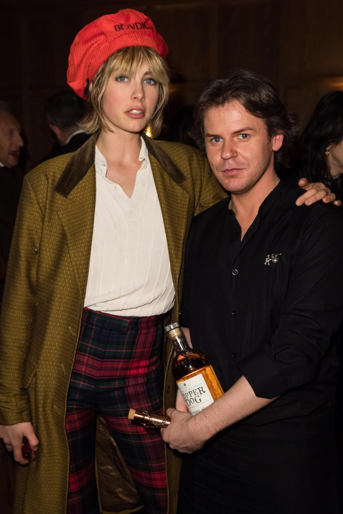 Edie Cambell and Christopher Kane