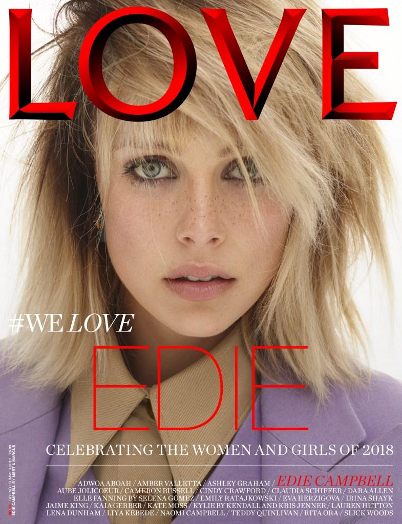 Edie Campbell Love magazine