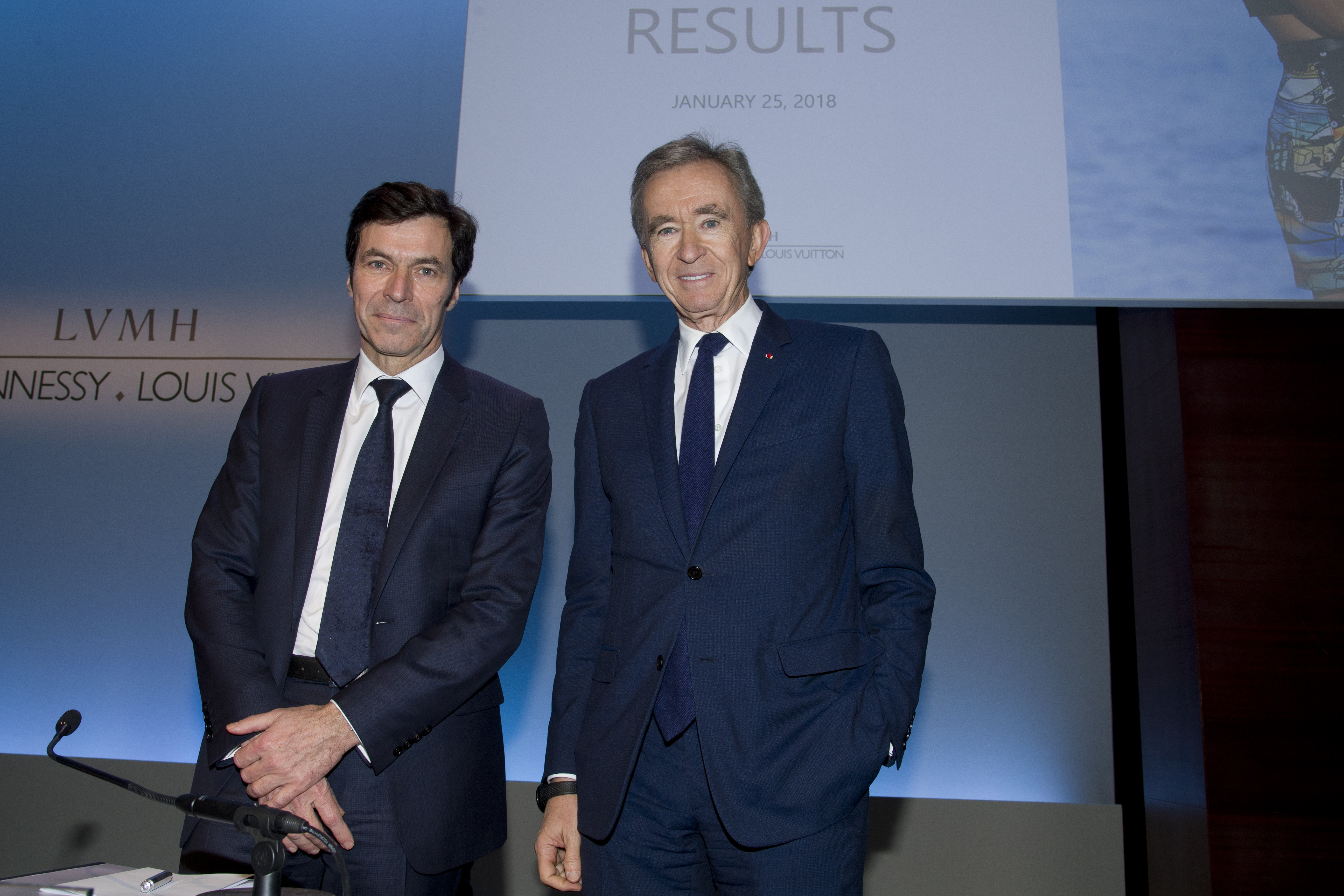 Jean-Jacques Guiony and Bernard Arnault
