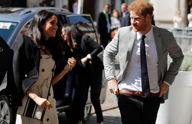 Britain's Prince Harry and his fiancee Meghan Markle arrive at the Queen Elizabeth II Center during the Commonwealth Heads of Government Meeting in LondonBritain Commonwealth, London, United Kingdom - 18 Apr 2018