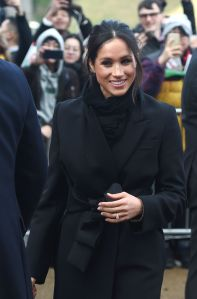 Meghan MarklePrince Harry and Meghan Markle visit Cardiff, United Kingdom - 18 Jan 2018Britain's Prince Harry (unseen) and his fiancee Meghan Markle visit Cardiff Castle, in Cardiff, Wales, Britain, 18 January 2018. The couple on their first official visit to Wales attended performances at the castle.