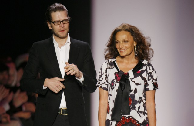 Nathan Jenden, creative director and Diane von Furstenberg, designer (Photo by Randy Brooke/WireImage)