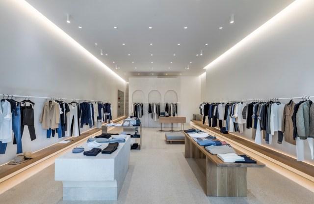 Theory's new Palm Beach store at Royal Poinciana Plaza.