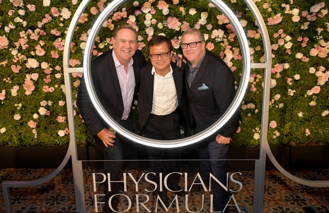 LOS ANGELES, CA - OCTOBER 19:  (L-R) President, Physicians Formula, Bill George, Owner & CEO, Physicians Formula, Eric Chen, and CAO, Physicians Formula, John Stephenson at Physicians Formula's 80th Anniversary at Beauty & Essex on October 19, 2017 in Los Angeles, California.  (Photo by Neilson Barnard/Getty Images for Physicians Formula)