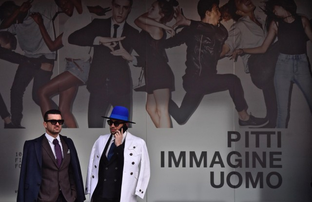 Visitors attend for the opening day of the 91st Pitti Immagine Uomo in Florence, Italy, 10 January 2017. The fashion exhibition for men's clothing and accessory collections runs from 10 to 13 January.91st Pitti Immagine Uomo in Florence, Italy - 10 Jan 2017