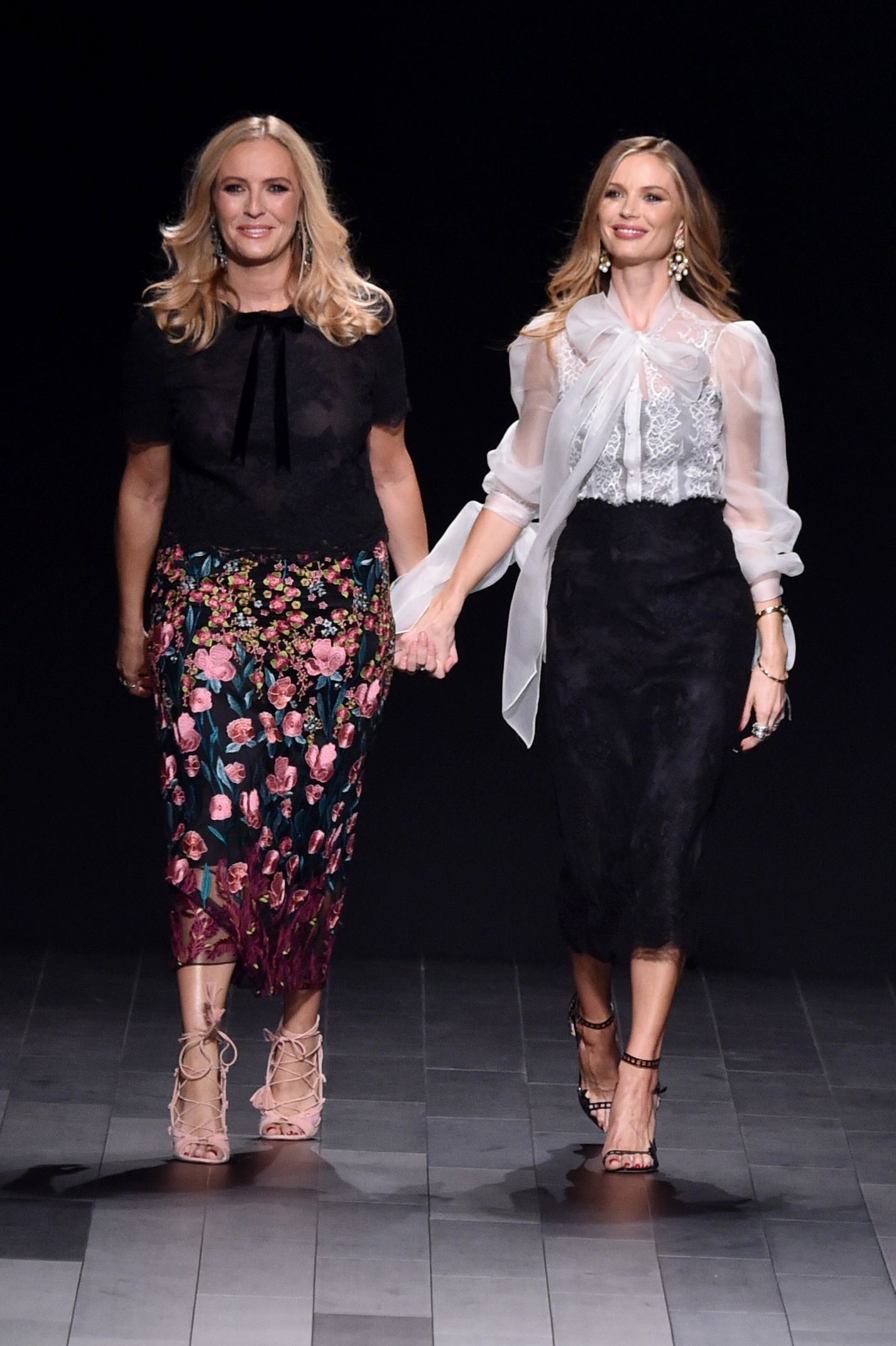 Keren Craig and Georgina Chapman on the catwalkMarchesa Couture show, Runway, Spring Summer 2018, New York Fashion Week, USA - 13 Sep 2017
