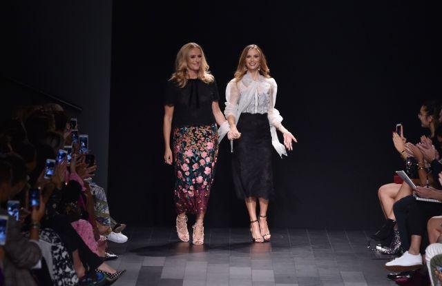 Keren Craig and Georgina Chapman on the catwalkMarchesa Couture show, Runway, Spring Summer 2018, New York Fashion Week, USA - 13 Sep 2017