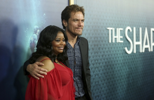 """Octavia Spencer, Michael Shannon. Octavia Spencer, left, and Michael Shannon arrive at the LA Premiere of """"The Shape of Water"""" at the Academy of Motion Pictures, Arts and Sciences, in Beverly Hills, CalifLA Premiere of """"The Shape of Water"""", Beverly Hills, USA - 15 Nov 2017"""