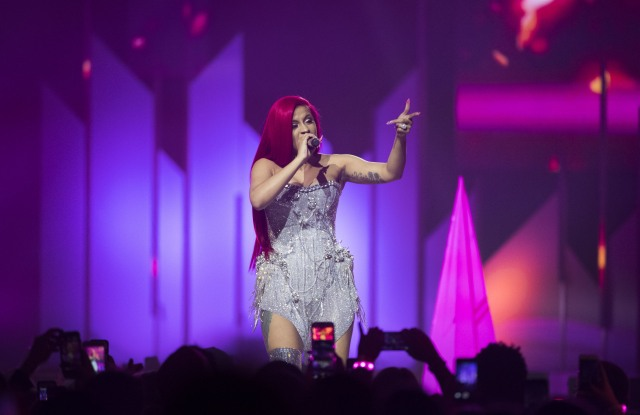 Cardi B performs on stage during the 2017 iHeartRadio Jingle Ball North at the Air Canada Centre, in Toronto2017 iHeartRadio Jingle Ball - - Show, Toronto, USA - 09 Dec 2017
