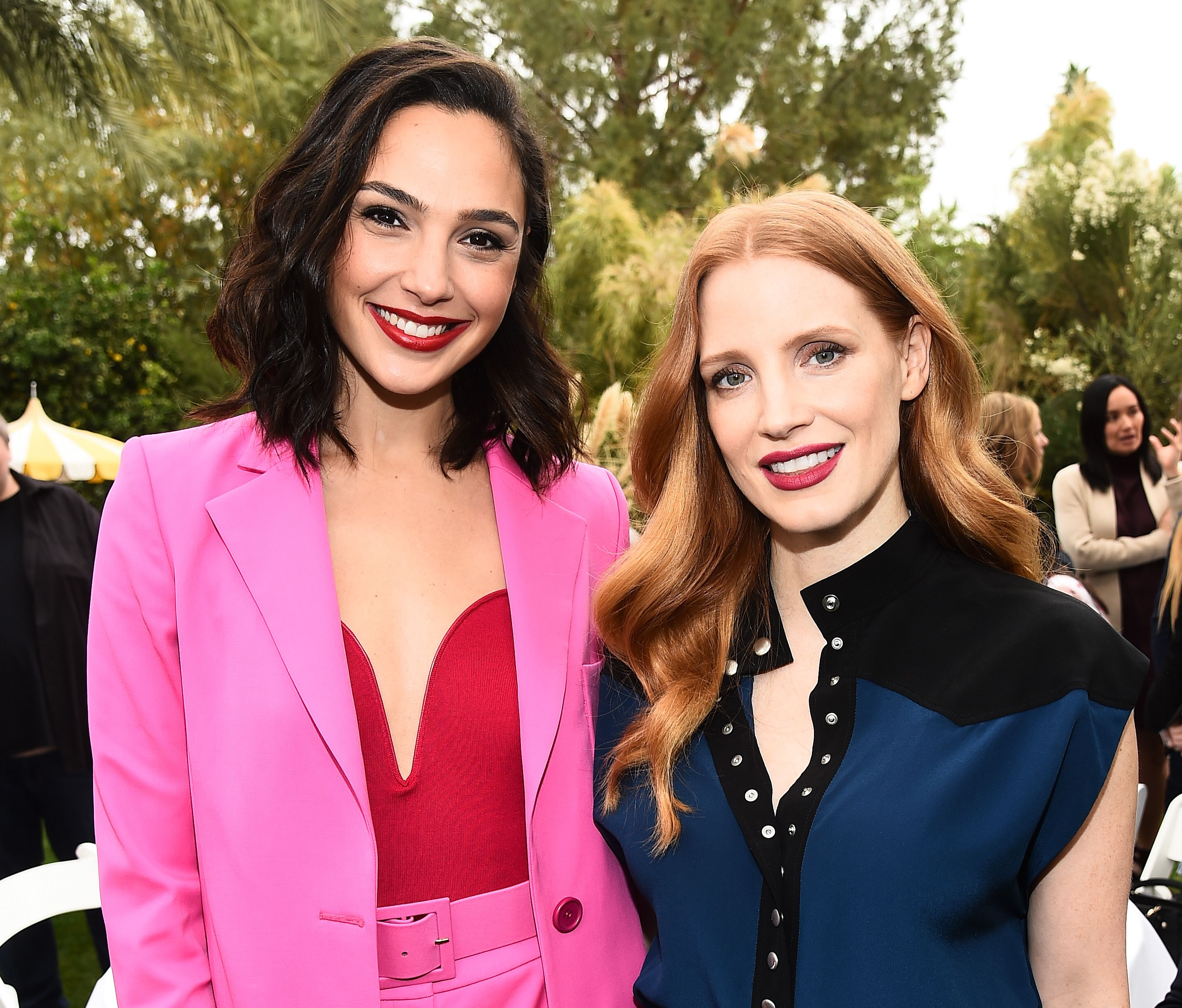 Gal Gadot and Jessica ChastainVariety's Creative Impact Awards and 10 Directors to watch Brunch, Palm Springs International Film Festival, USA - 03 Jan 2018