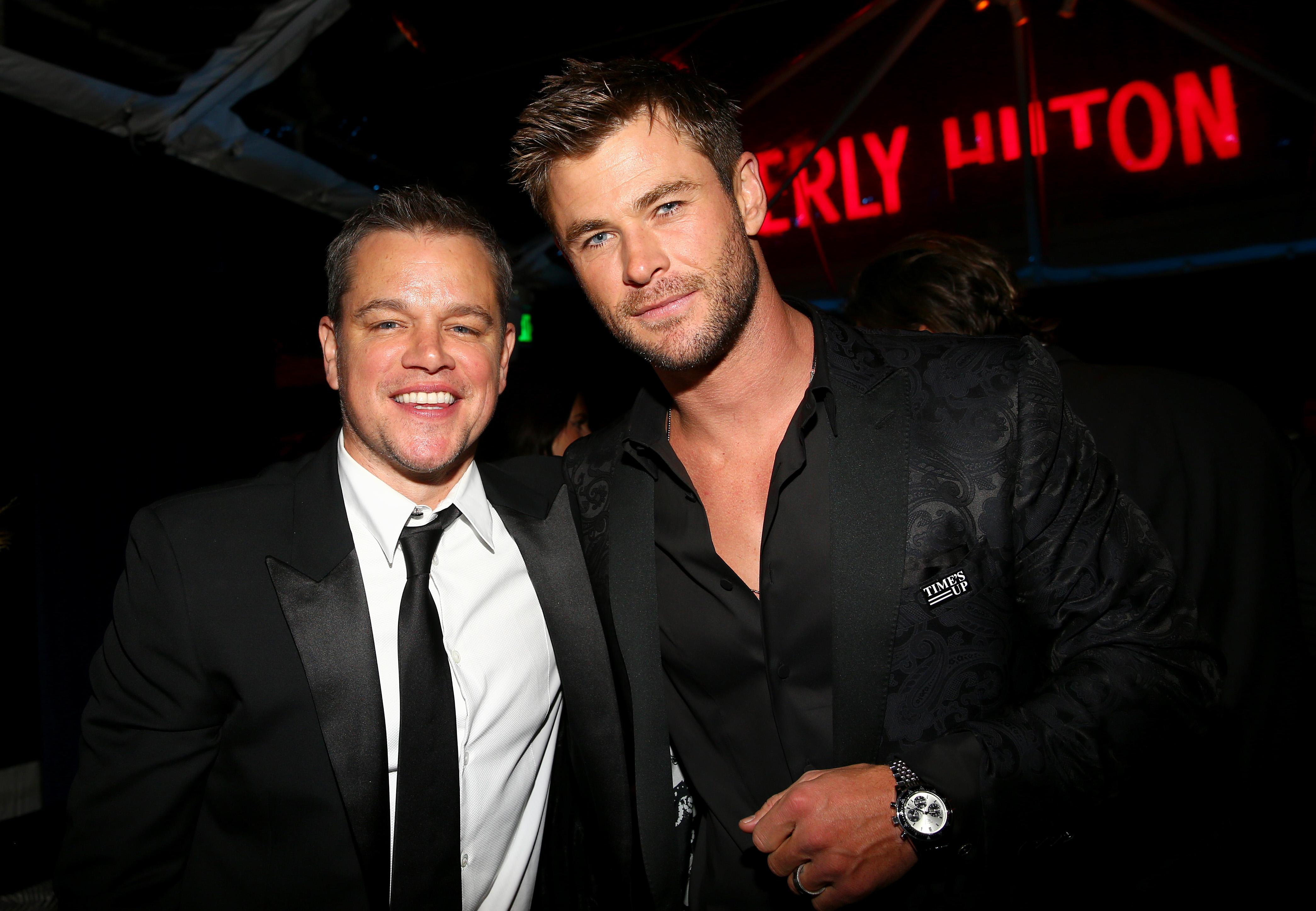 Matt Damon and Chris HemsworthAmazon Golden Globes After Party, Inside, Los Angeles, USA - 07 Jan 2018