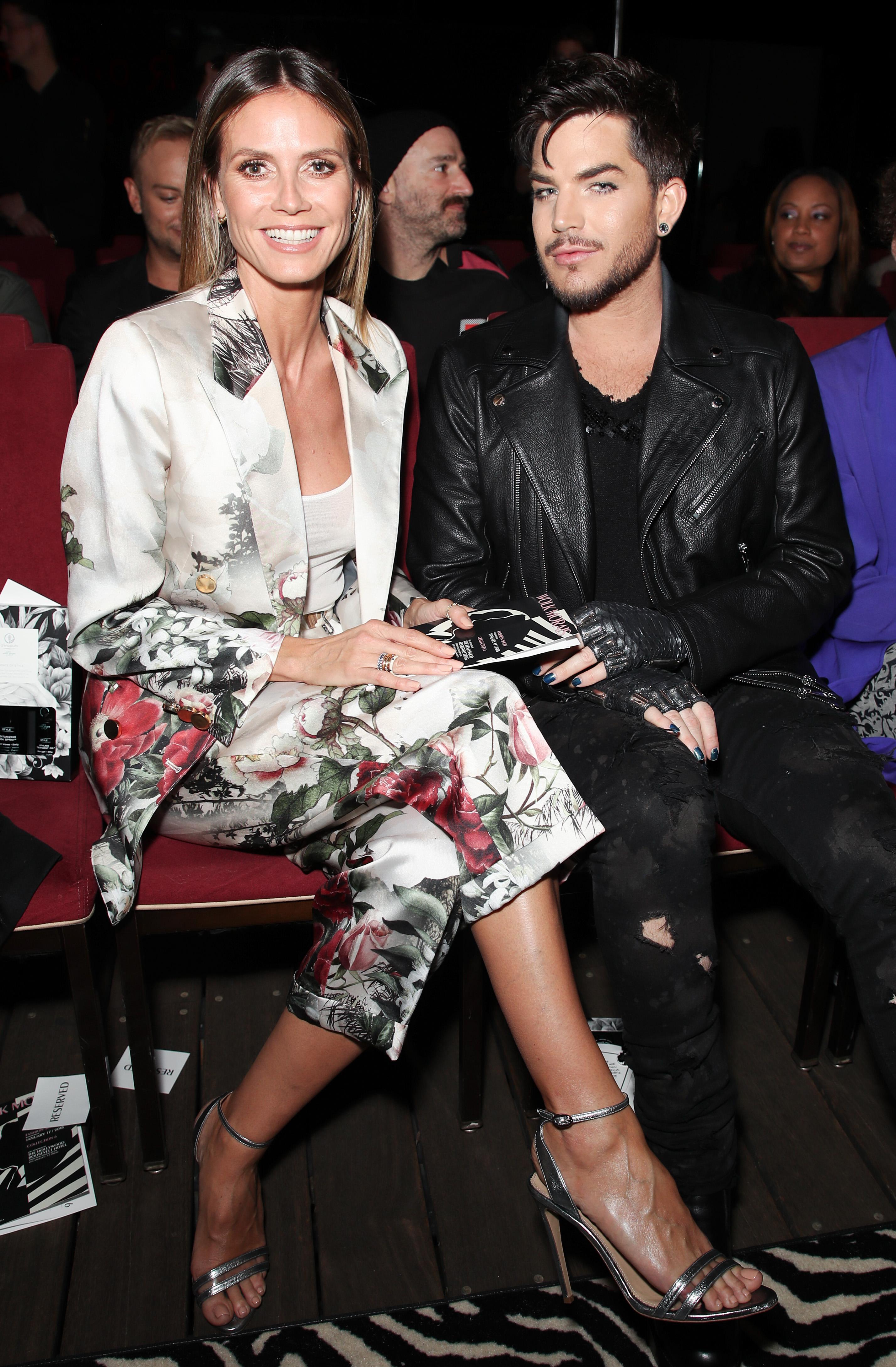 Heidi Klum and Adam Lambert Wolk Morais Collection 6 show, Front Row, Los Angeles, USA - 17 Jan 2018
