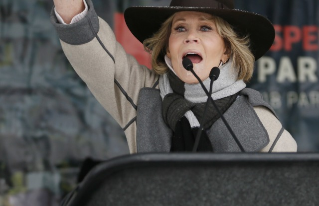 Actress Jane Fonda speaks at the Respect Rally Park City during the 2018 Sundance Film Festival, in Park City, Utah2018 Sundance Film Festival - Respect Rally , Park City, USA - 20 Jan 2018