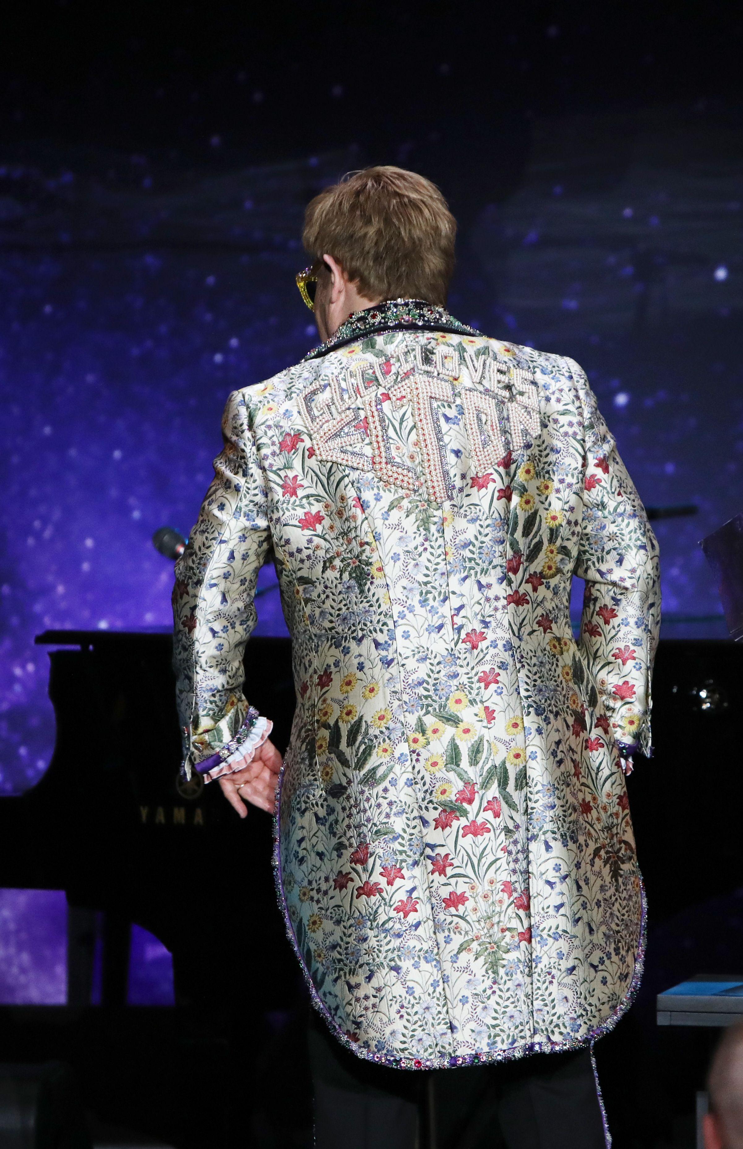 Elton John, Jacket DetailElton John Announces 'Farewell Yellow Brick Road' Tour, New York, USA - 24 Jan 2018