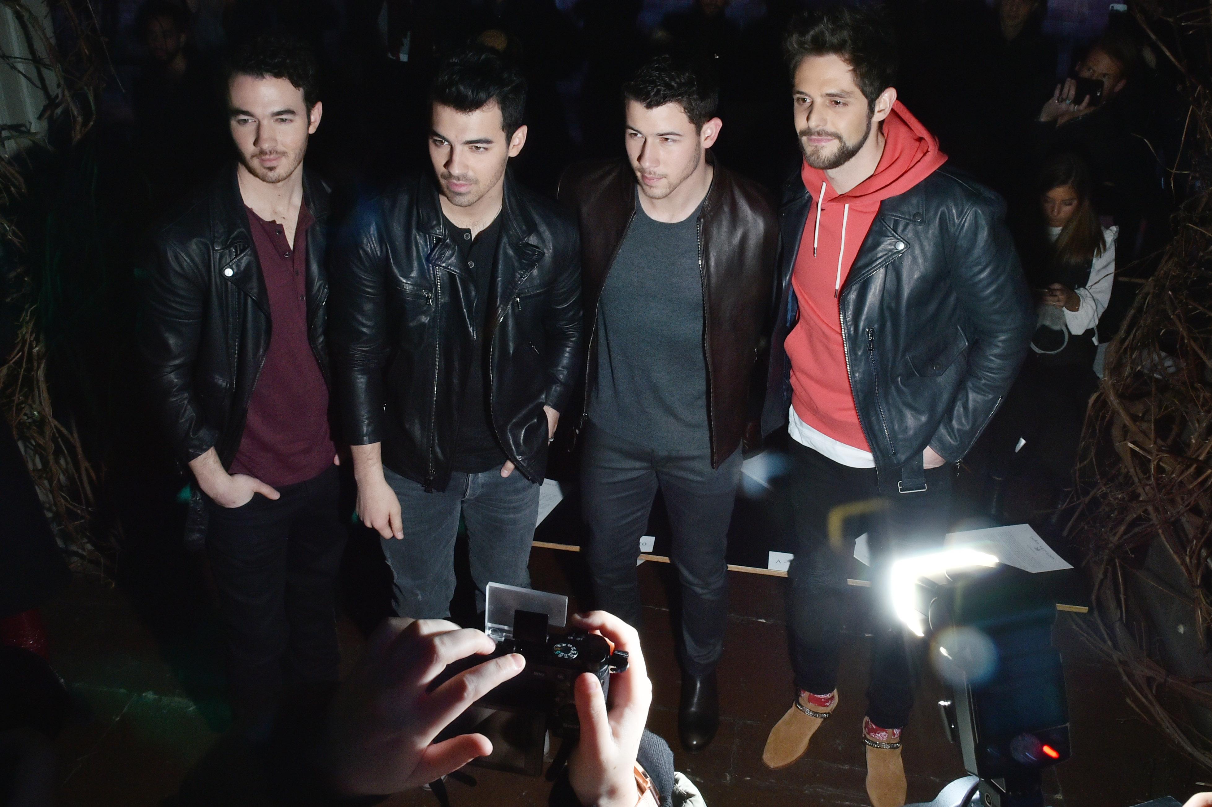 Kevin Jonas, Joe Jonas, Nick Jonas and Thomas RhettJohn Varvatos show, Front Row, Fall Winter 2018, New York Fashion Week Men's, USA - 26 Jan 2018