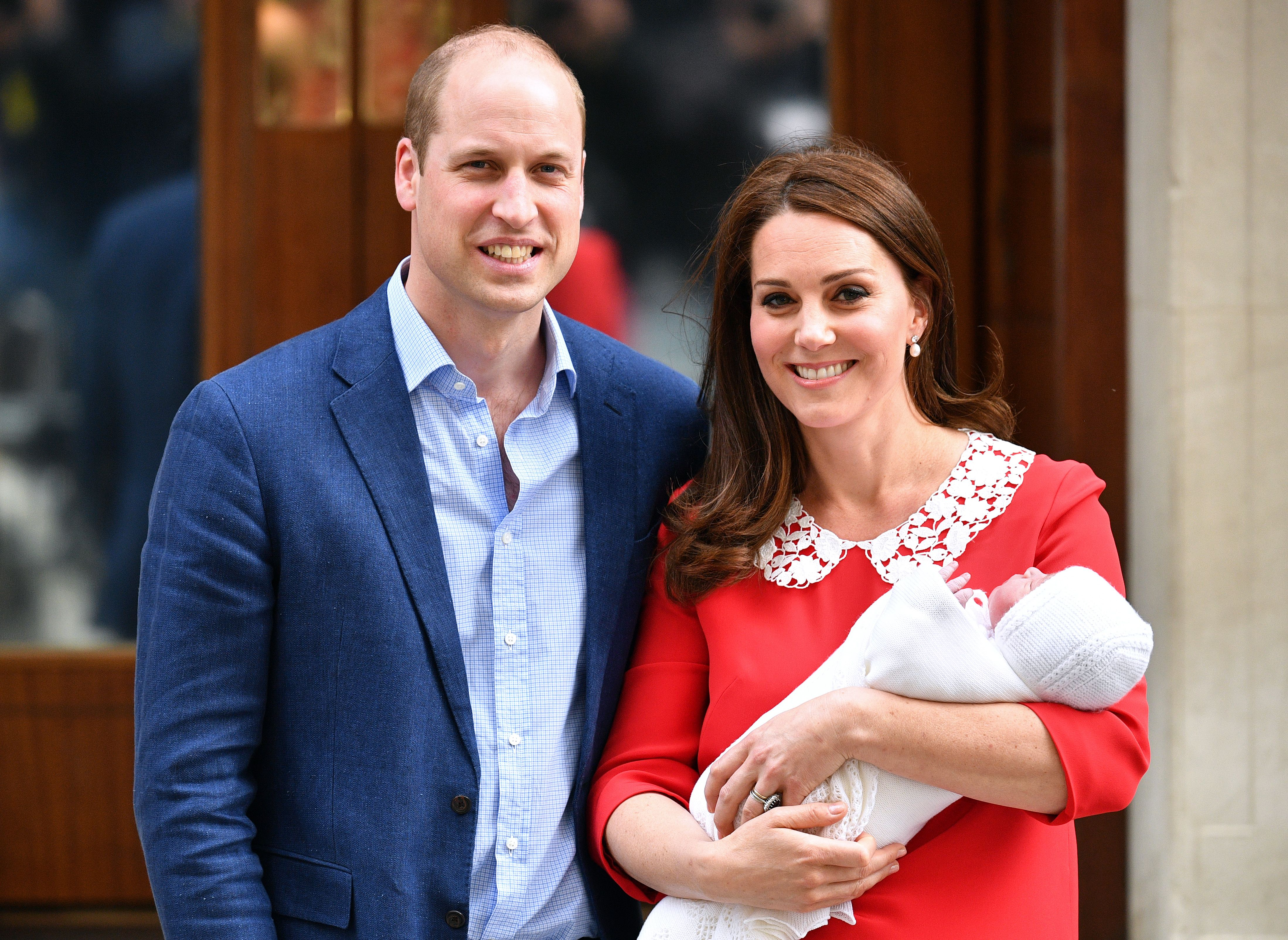 Catherine Duchess of Cambridge and Prince William leaving hospital with their newborn baby boyCatherine Duchess of Cambridge gives birth to her third child, Lindo Wing, St Mary's Hospital, London, UK - 23 Apr 2018