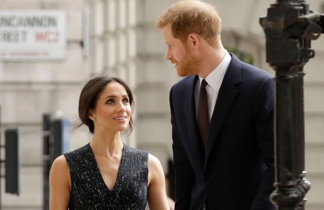 Britain's Prince Harry and his fiancee Meghan Markle arrive to attend a Memorial Service to commemorate the 25th anniversary of the murder of black teenager Stephen Lawrence at St Martin-in-the-Fields church in LondonBritain Lawrence, London, United Kingdom - 23 Apr 2018