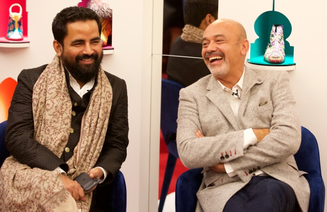 Sabyasachi Mukherjee and Christian Louboutin at Harrods