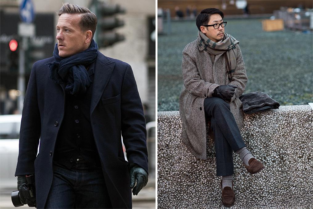 Left: Scott Schuman, Right: A street style look by Scott Schuman.