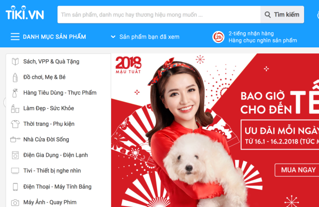 Tik is one of Vietnam's leading full-service ecommerce portals.