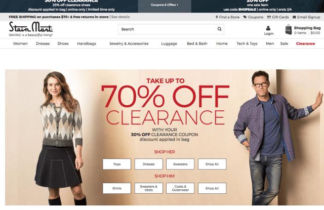 Stein Mart's Web site.