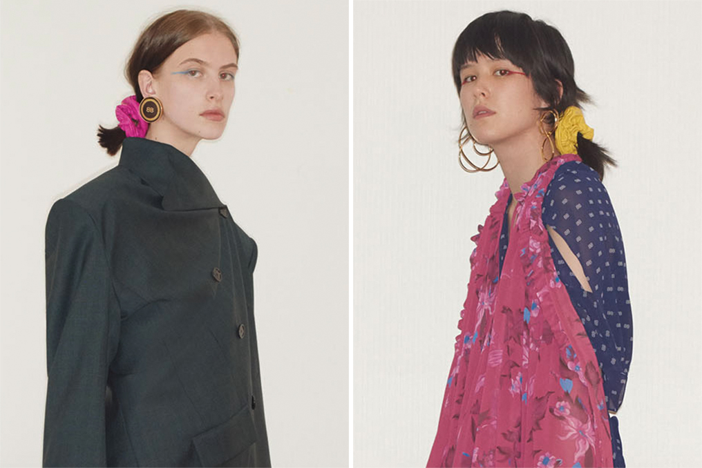 Scrunchies prominently featured in Balenciaga's resort 2018 collection.