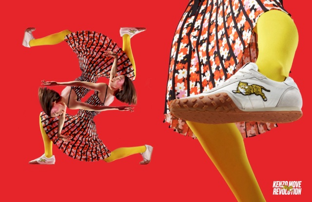 A visual from the Kenzo Move Revolution campaign.