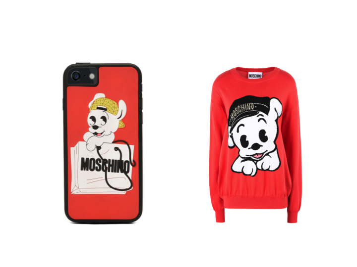 Moschino's capsule collection celebrating the Chinese New Year and featuring Pudgy.