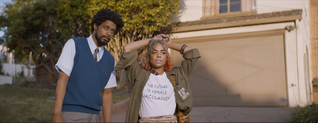 Lakeith Stanfield and Tessa Thompson appear in <i>Sorry to Bother You</i> 2018 Sundance Film Festival.