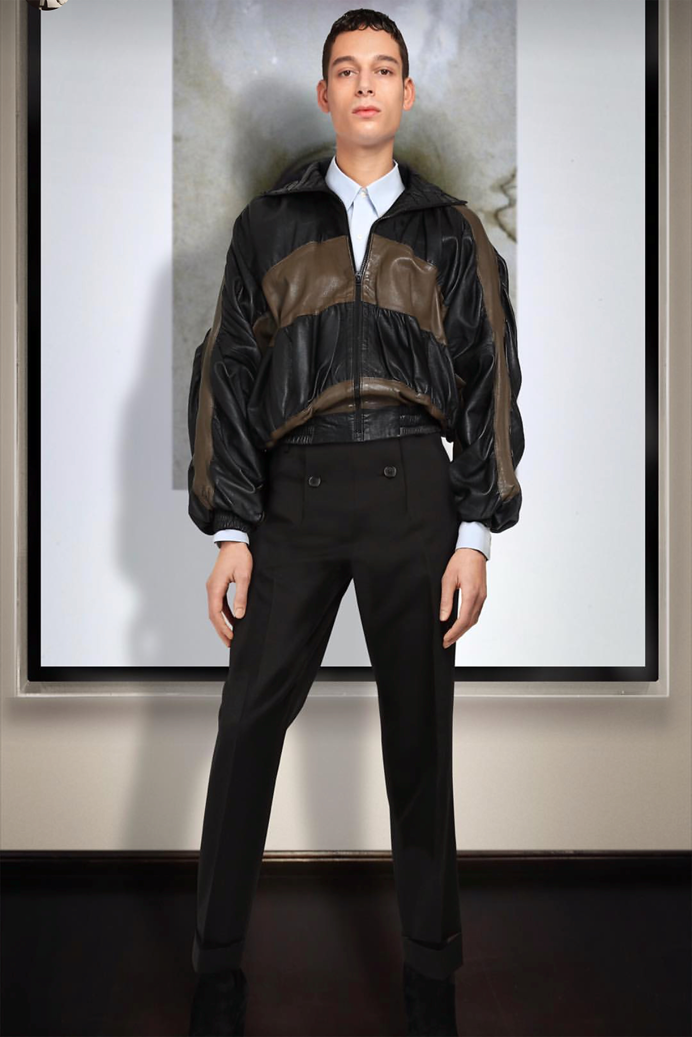 A look from Stefano Pilati's Upcoming Collection.