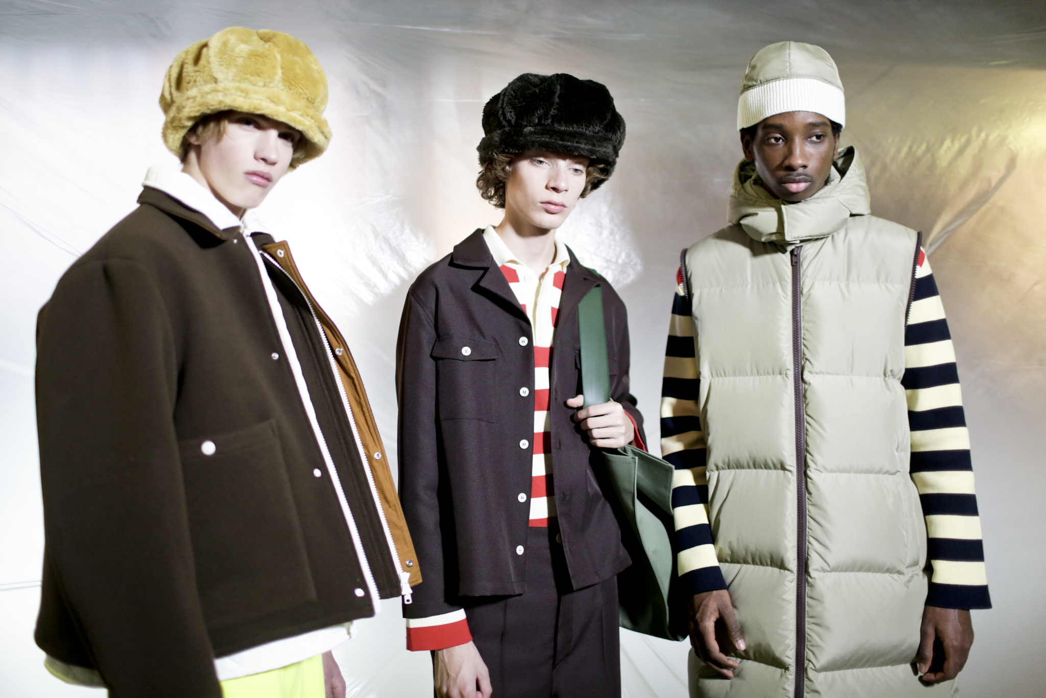 Backstage at Sunnei Men's Fall 2018