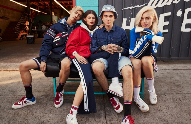 """Tommy Jeans' spring campaign, photographed by Devyn Galindo in California, features a crew of Millennial influencers including rapper Christian """"King"""" Combs, models and musicians Pyper America Smith and Gabriel-Kane Day-Lewis, and models Diana Silvers, Lina Hoss and Sup Park wearing street-inspired looks. It also gives a nod to Formula One racing pit crews with heritage workwear, loose baggy outerwear, oversized silhouettes and denim details. The mobile-first campaign, which breaks today, is based on the premise of defying norms and defining new ways to express diversity and individuality.— Lisa Lockwood"""