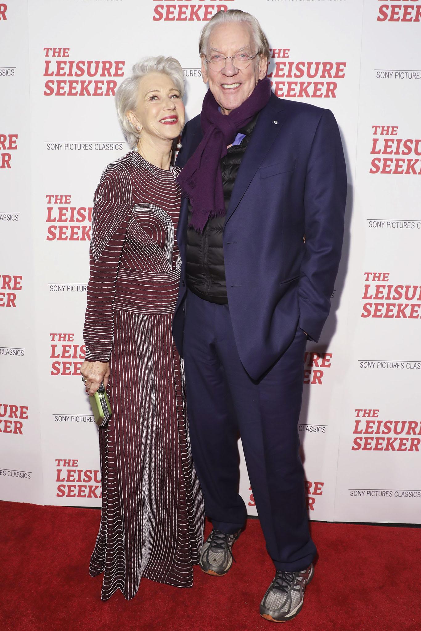 Helen Mirren and Donald Sutherland'The Leisure Seeker' film screening, Arrivals, New York, USA - 11 Jan 2018
