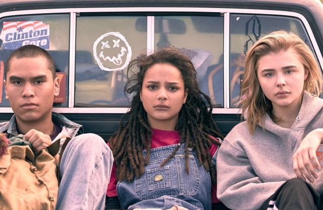 Forrest Goodluck, Sasha Lane and Chloë Grace Moretz appear in The Miseducation of Cameron Post at the 2018 Sundance FIlm Festival.