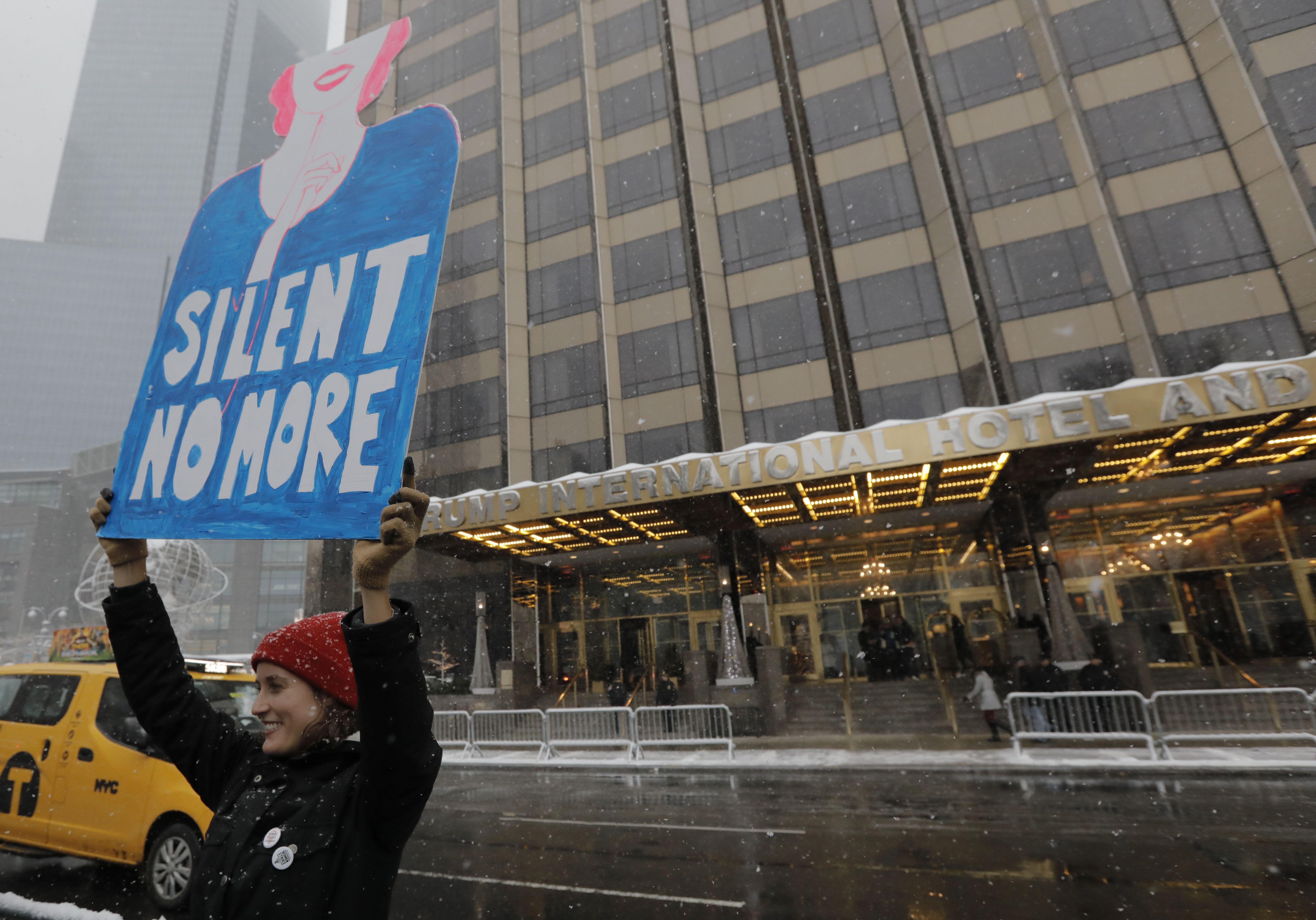 Donald Trump, #metoo, protest, trump hotel