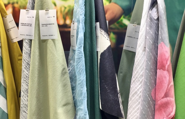 Fabric selections at JETRO's Japan Textile Salon in New York.
