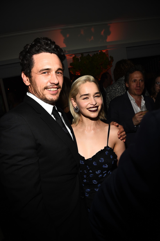 James Franco and Emilia Clarke
