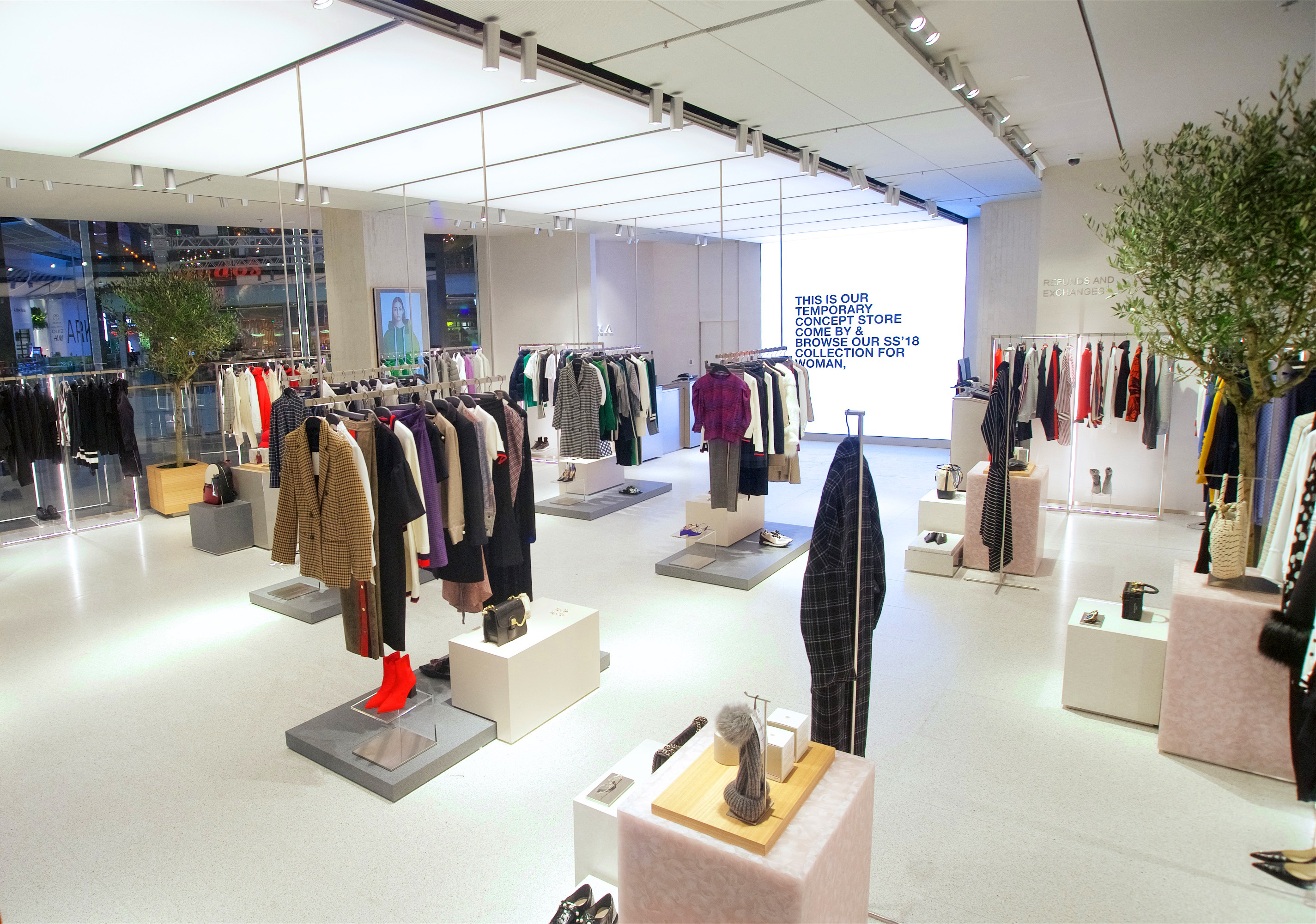 The Zara pop-up store in London