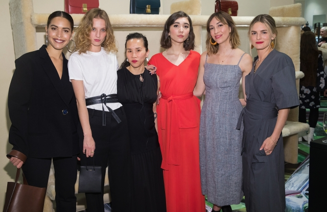 SEATTLE, WA - FEBRUARY 15:  (L-R) Cleo Wade, Petra Collins, Olivia Kim, Rowan Blanchard, Gia Coppola and Nathalie Love attend the Celine + Nordstrom Pop-Up at Nordstrom on February 15, 2018 in Seattle, Washington.  (Photo by Mat Hayward/Getty Images for Nordstrom)